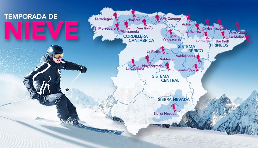 Mapa Estaciones Esqui España.Las Mejores Estaciones De Esqui De Espana Mejores Pro